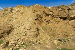 Dolomit skała w starym łupie jak Obrazy Stock