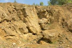 Dolomit skała w starym łupie jak Zdjęcie Stock