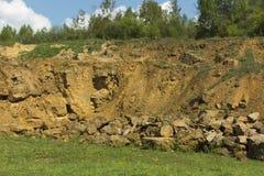 Dolomit skała w starym łupie jak Obraz Stock