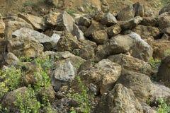 Dolomit skała w starym łupie jak Zdjęcia Stock