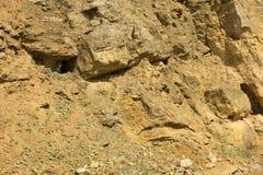 Dolomit skała w starym łupie jak Zdjęcie Royalty Free