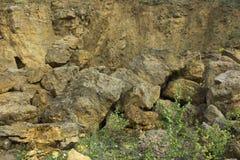 Dolomit skała w starym łupie jak Obrazy Royalty Free