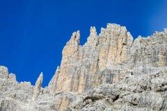 Dolomit skalistej góry ściana Zdjęcie Stock