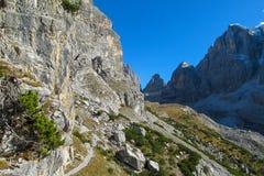 Dolomit skalistej góry ściana Obraz Stock