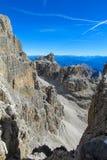 Dolomit skalistej góry ściana Fotografia Stock