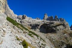 Dolomit skalistej góry ściana Zdjęcia Stock