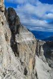 Dolomit skalistej góry ściany krajobraz Obrazy Royalty Free
