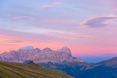 Dolomit-Sonnenuntergang Lizenzfreies Stockbild