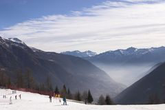 Dolomite. Mountain during winter seasons Stock Photos