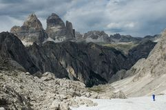 In the Dolomite Alps Royalty Free Stock Photo