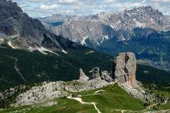 In the Dolomite Alps stock photos