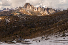 Dolomite Alps in autumn Royalty Free Stock Images