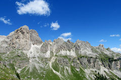 Dolomite Alps beautiful panorama Royalty Free Stock Photos