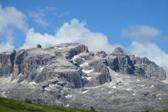 Dolomite Alps beautiful panorama view Royalty Free Stock Photography
