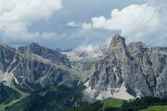 Dolomite Alps beautiful panorama view Royalty Free Stock Image