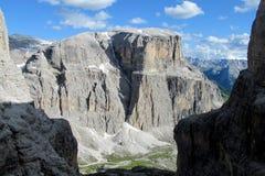 Dolomite Alps beautiful rocky peaks landscape Stock Photography