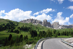 DOLOMITE ALPS, ITALY. Scenic view of dolomite alps, Italy stock photography