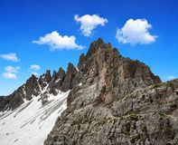 Dolomite Alps , Italy. Mountain Paternkofel  Dolomite Alps , Italy Royalty Free Stock Images