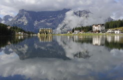 Dolomite Alps, Misurina Lake Royalty Free Stock Photo