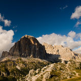 Dolomite alps near cortina. With deep blue sky Royalty Free Stock Photos