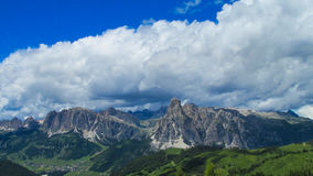 Dolomite Alps rocky landscape Royalty Free Stock Photo