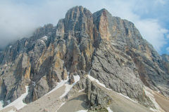 Dolomite Alps scenic landscape Royalty Free Stock Photo
