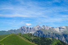 Dolomite Alps scenic rocky peaks Royalty Free Stock Photos