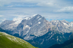 Dolomite Alps scenic rocky peaks Royalty Free Stock Images
