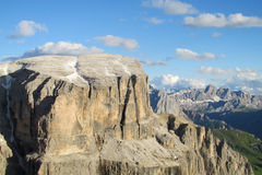 Dolomite Alps Sella towers beautiful view Royalty Free Stock Photography