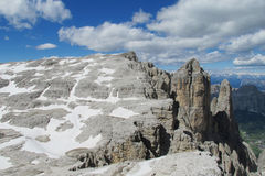 Dolomite Alps Sella Royalty Free Stock Photos