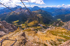 In the Dolomite Alps royalty free stock image
