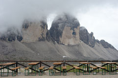 Dolomite Alps, Tre Cime di Lavaredo Stock Photography