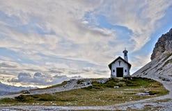 Dolomite chapel stock image