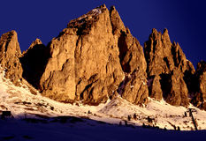 Dolomite Coucher du soleil-Italie Photo libre de droits