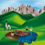 Dolomite landscape Stock Photography
