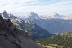 Dolomite landscape Stock Photo