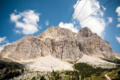 Dolomite mountain near Cortina Stock Images