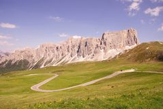 Dolomite mountains Stock Photo