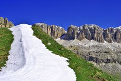 Dolomite Mountains. World Heritage humanity royalty free stock photos