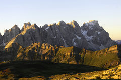 Dolomite Mountains. World Heritage humanity royalty free stock image