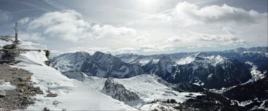 Dolomite mountains Royalty Free Stock Images