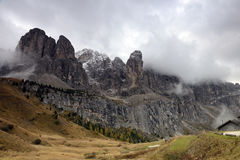 Dolomite Mountains and Forest Royalty Free Stock Image