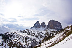 Dolomite mountains, Sella pass Royalty Free Stock Image