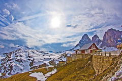 Dolomite mountains, Sella pass Stock Images