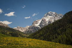 Dolomite mountains, Tyrolean region of Italy Royalty Free Stock Photography