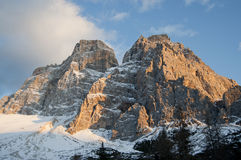 The Dolomite in northern Italy. View of the Dolomite of the Val di Zoldo in Veneto in northern Italy royalty free stock photos