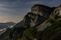 Dolomite på natten royaltyfria bilder