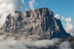 Dolomite peaks above clouds Royalty Free Stock Image