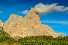 Dolomite peaks,Cimon della Pala,Italy Alps Royalty Free Stock Photo