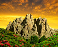Dolomite peaks, Rosengarten Royalty Free Stock Images